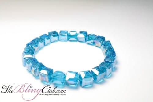 Ocean Blue Gorgeous Stretch Bling Bracelet