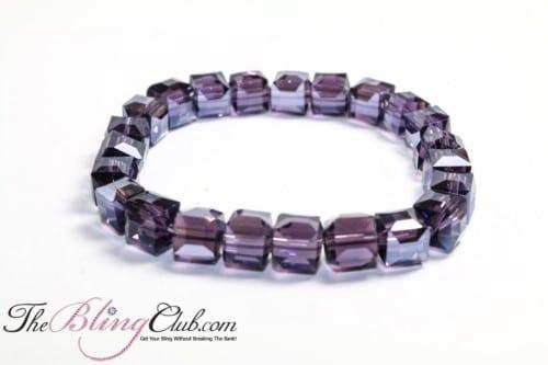 Sparkle BLING stretch faceted crystal bracelet