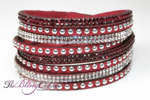 red-vegan-leather-swarovski-wrap-bracelet-crystals-and-studs