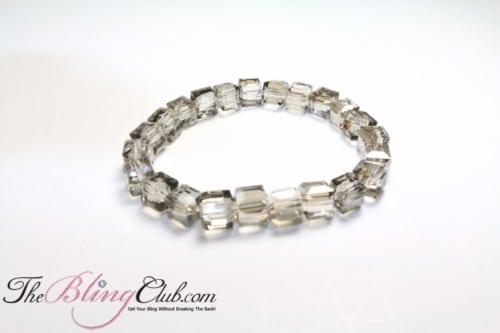 smoky stretch Bling crystal bracelet