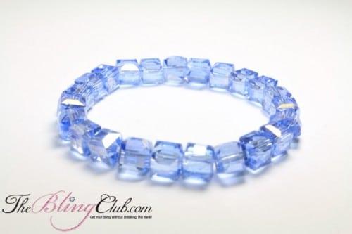 stretch Bling crystal sky blue bracelet