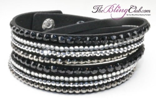 theblingclub-com-black-swarovski-multi-crystal-with-silver-vegan-leather-wrap-bracelet