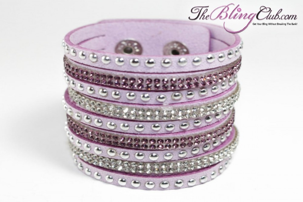 theblingclub-com-mauve-vegan-leather-swarovski-cuff-with-crystals-and-studs