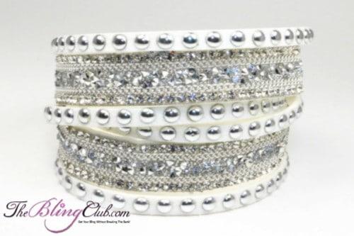 theblingclub-com-white-swarovski-wide-silver-crystal-with-silver-studs-vegan-leather-wrap-bracelet