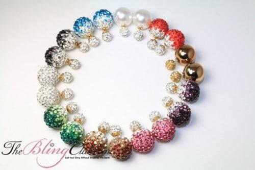 Buy More BLING Shamballa Stud Earring Set