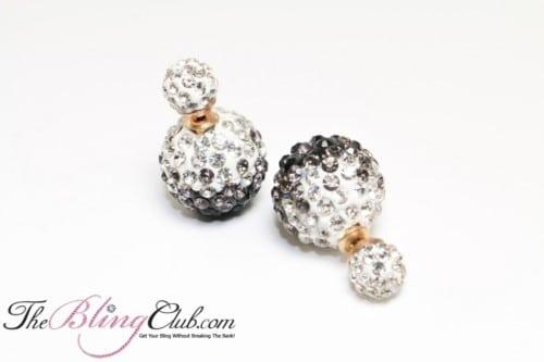 black clear bling crystal shamballa stud crystal earrings (1)
