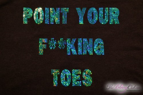 theblingclub.com point your freaking toes bling racerback tank top