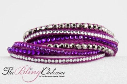 theblingclub.com purple wrap multi crystal swarovski bracelet