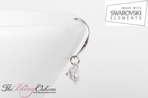 theblingclub.com swarovski single drop earrings side view