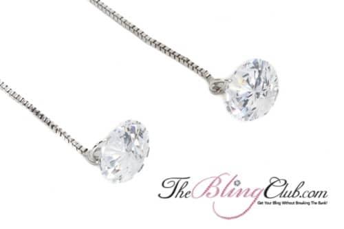 the bling club swarovki dangle threader chandelier earrings