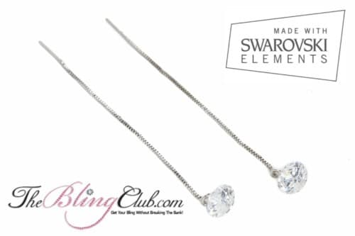 theblingclub.com swarovski crystal threader drop earrings