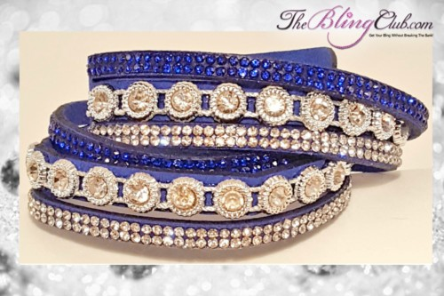 theblingclub-com-modern-antique-blue-wrap-vegan-leather-crystal-bracelet