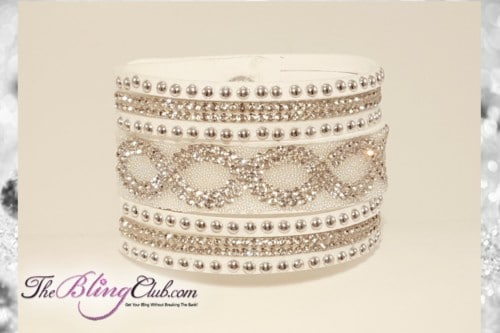 theblingclub-com-white-infinity-vegan-leather-crystal-swarovski-bling-cuff-bracelet-clasp