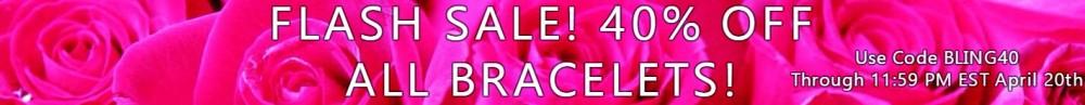 bracelets flash sale 40 percent off banner