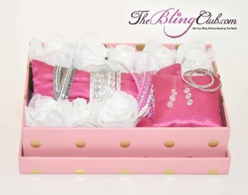 luxe garden bling gift box swarovski earrings 3 bracelets by the bling club