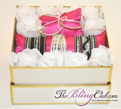 the bling club garden of bracelets crystal bling gift box