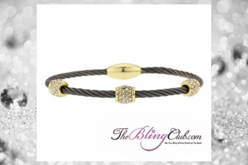 theblingclub.com black gold crystal cable