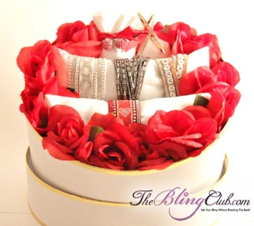 theblingclub.com garden of love round bling gift box