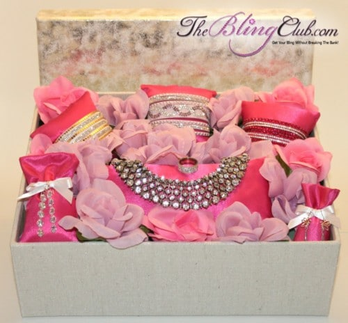 theblingclub.com roaylty garden bling gift box with kate middelton statement necklace