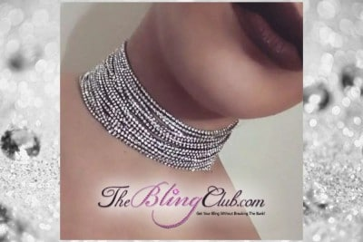 the bling club 15 row crystal bling rhinestone choker necklace main pic
