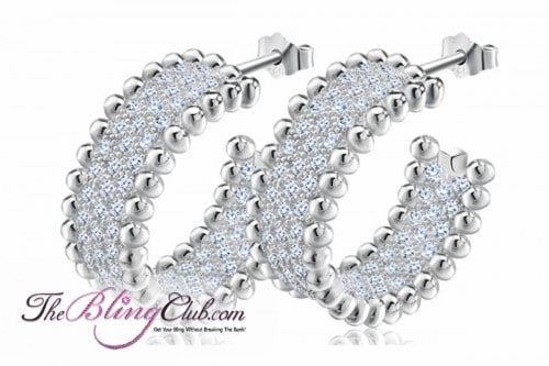theblingclub.com pave crystal inside outside luxe hoop earrings