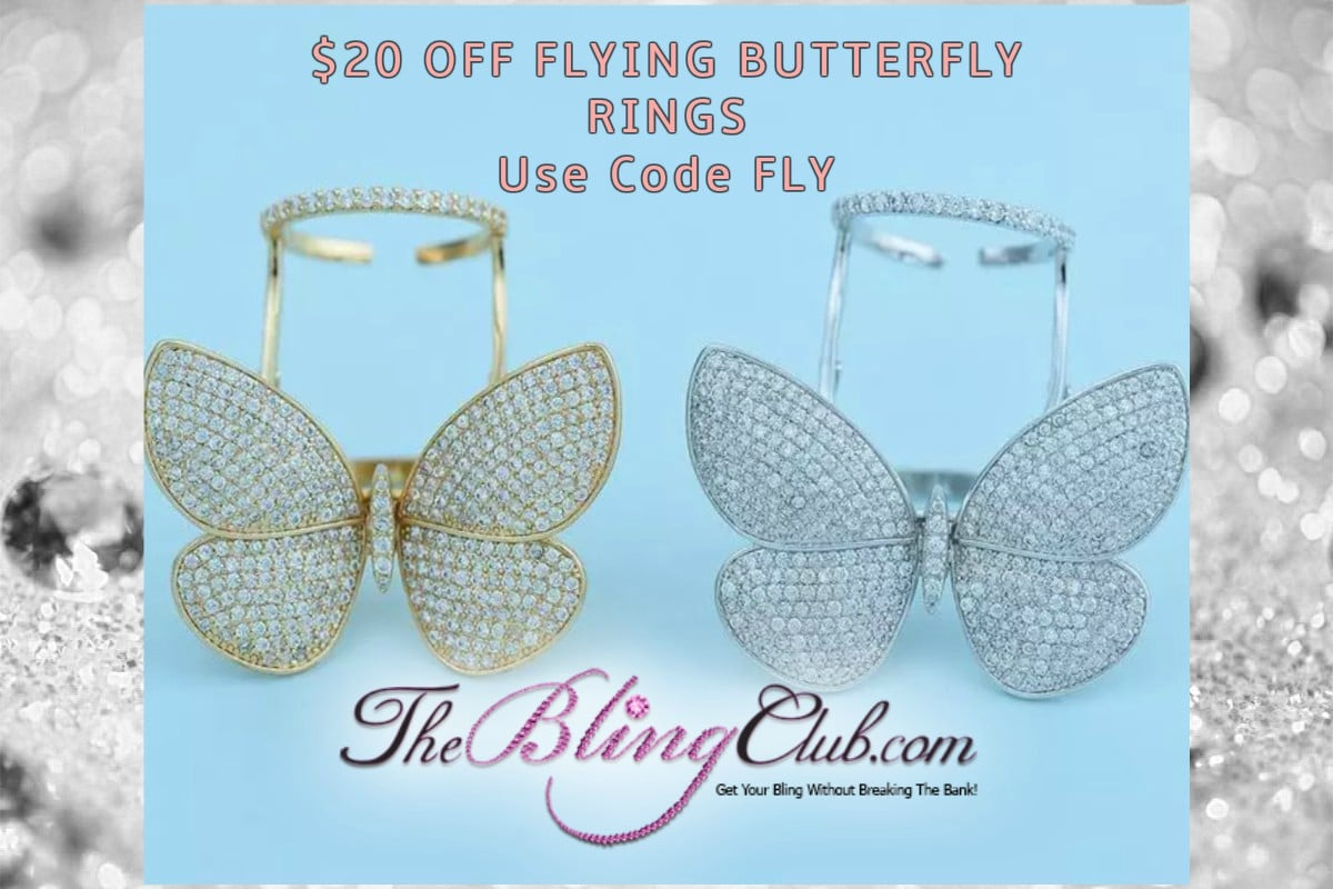 20 dollars OFF flying BUTTERFLY RINGS use code fly