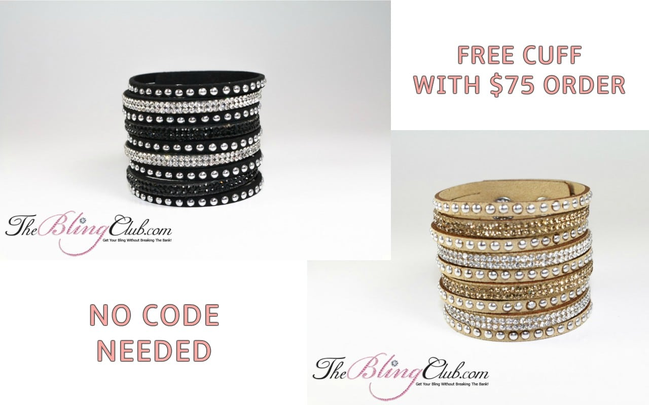 free cuff with 75 dollar order no code needed